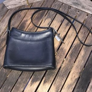 Vintage black leather Coach purse